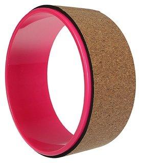 Йога-колесо «Лотос» 33 × 13 см, цвет розовый