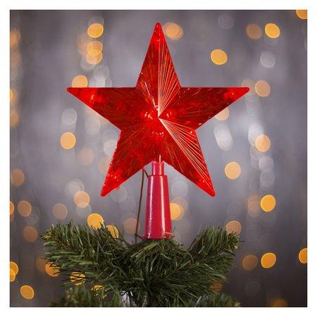 """Фигура """"Звезда красная ёлочная"""" 15х15 см, пластик, 10 Led, 2 м провод, 240v красный  LuazON"""