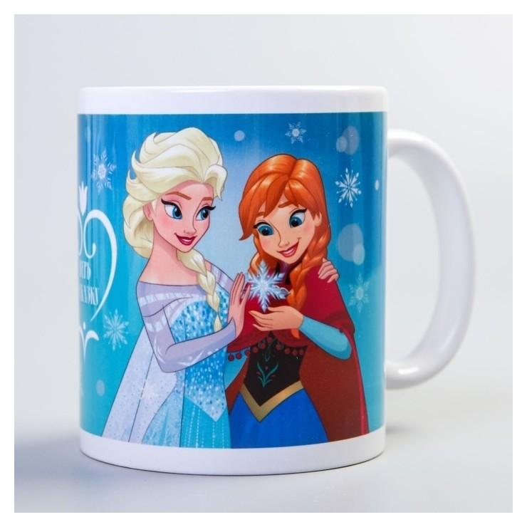 """Кружка сублимация """"Верь в сказку!"""", холодное сердце, 350 мл  Disney"""