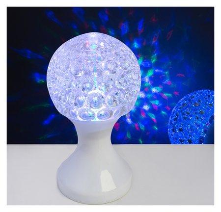 """Световой прибор хрустальный шар """"Кубок"""", диаметр 10 см, 220 В, белый  LuazON"""