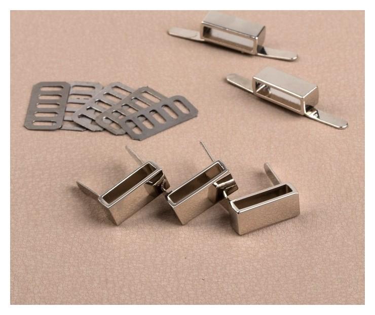 Держатель для ремешка, 18 × 7 мм, внутр. 16 × 4 мм, 5 шт, цвет серебряный NNB