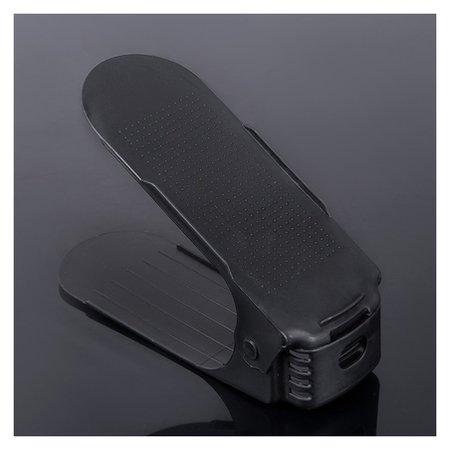 Подставка для хранения обуви регулируемая, 26×10×6 см цвет чёрный  NNB