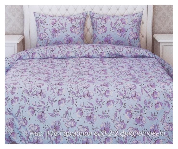 Постельное бельё La Marka 2 сп. гармония (Фиолет) 175х210, 175х210см, 70х70см 2шт, бязь, 105г/м, хл100%  La Marka Home