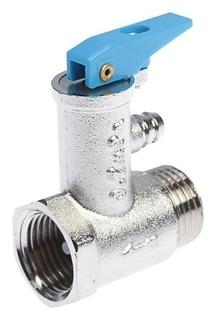 """Клапан предохранительный для водонагревателя """"Стм"""", 1/2"""", 6 бар, со сбросным крючком"""