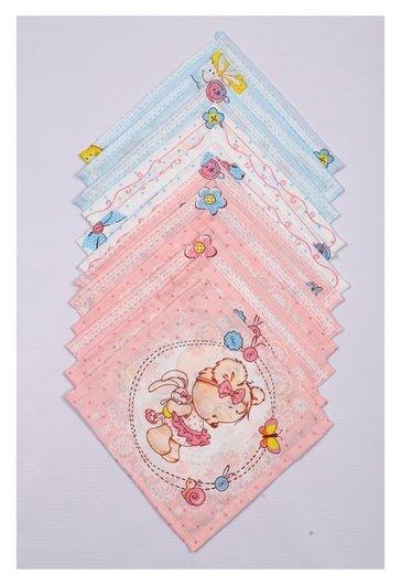 Набор платков носовых детских 18х18 см, 12шт, рис 5468 100г/м хл100%  Атра