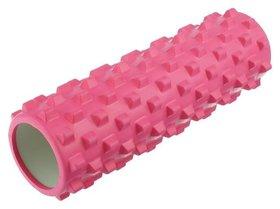Роллер массажный для йоги 45 х 15 см, цвет розовый
