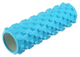 Роллер для йоги массажный 45 х 15 см, цвет синий