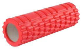 Роллер для йоги 30 х 10 см, массажный, цвет красный