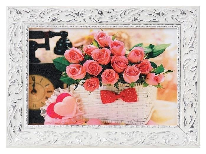 """Картина """"Розы в корзине"""" 27х37см  NNB"""