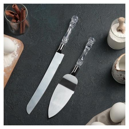 Набор кондитерский «Стиль», 2 предмета: лопатка 26 см, нож 33 см NNB