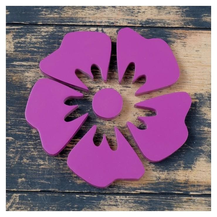 Набор декора настенного Цветок, 6 деталей, 11х11см NNB