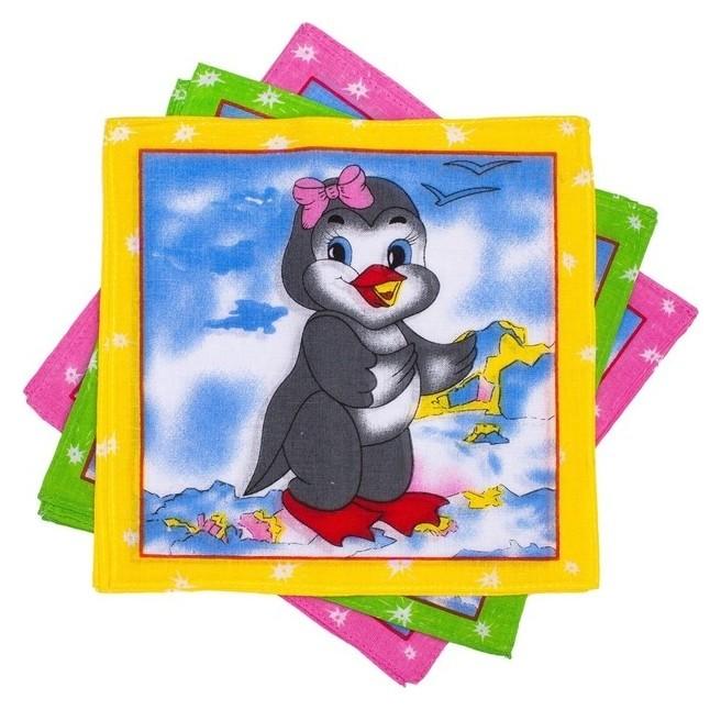 Набор детских носовых платков Melagrana 20х20см 12шт ситец 66г/м хл100%  КНР