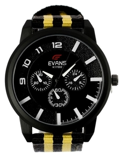 """Часы наручные мужские """"Evans"""" D=4.5 см, текстильный ремешок  NNB"""