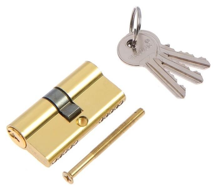 Цилиндровый механизм, алюминиевый ЦМ 60(30/30)-3k Pb,английский ключ, 33*17*60 мм, цвет золо 46470 NNB