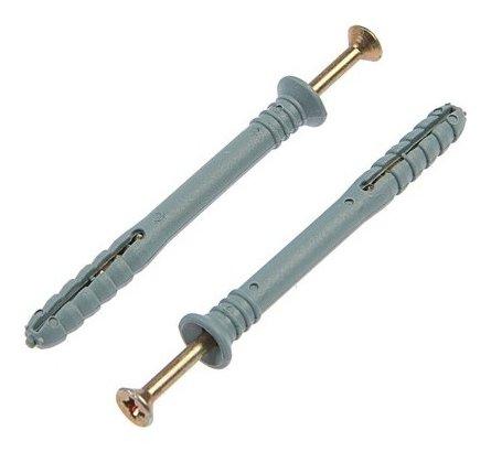 Дюбель-гвоздь 6х60 мм, потайная манжета,100 шт.  Стройбат