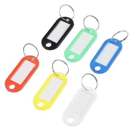 Бирка Palladium для ключей, пластик, набор 6 шт  КНР