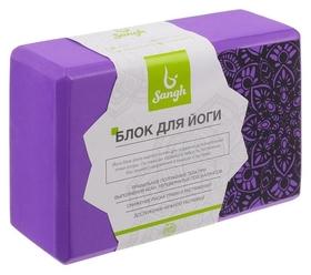 Блок для йоги 23 × 15 × 8 см, 120 г, цвет фиолетовый