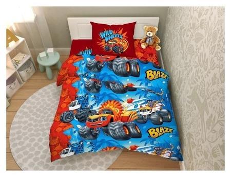 Детское постельное бельё 1,5 «Крутые гонки», 150х215см, 145х215см, 70х70см - 1шт  КНР
