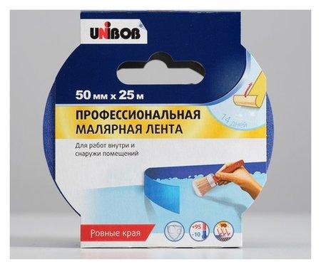 Профессиональная малярная лента Unibob для наружных работ 50мм х 25м синяя  Unibob