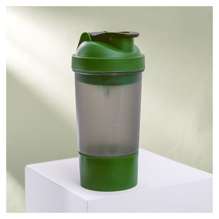 Шейкер спортивный с чашей под протеин, 500 мл NNB