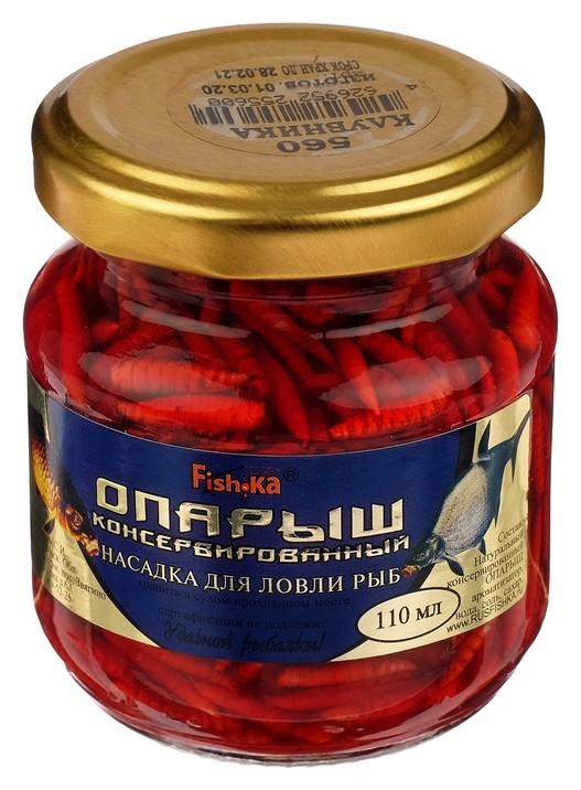 Насадка опарыш натуральный, консервированный, клубника 110 мл Fish-ka