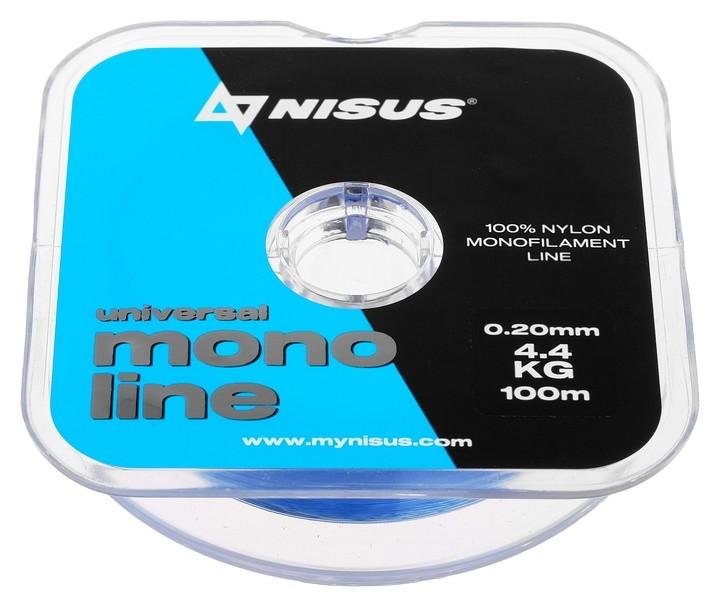 Леска Nisus Monoline Blue 0,20 мм/100 м Nisus