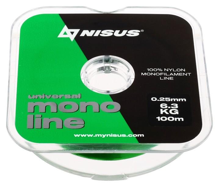 Леска Nisus Monoline Green 0,25 мм/100 м Nisus