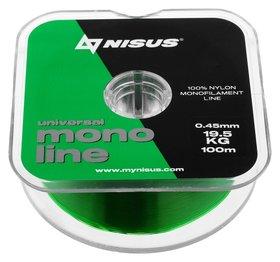 Леска Nisus Monoline Green 0,45 мм/100 м  Nisus