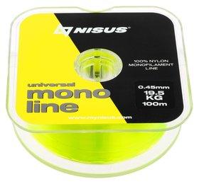 Леска Nisus Monoline Fluorescent Yellow 0,45 мм/100 м  Nisus