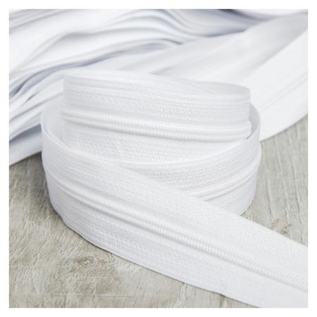 Молния рулонная «Спираль», №3, 100 м, цвет белый  Gamma