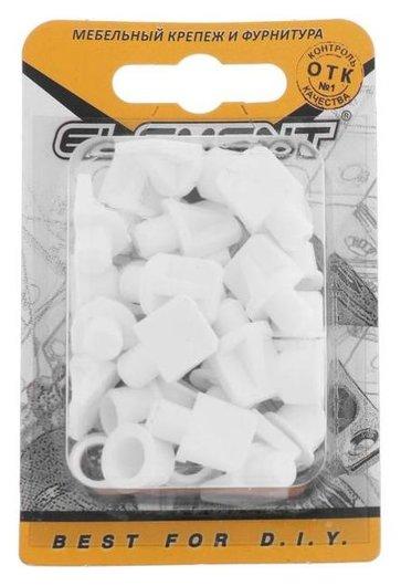 Полкодержатель лопаточка D=7 мм, пластмассовый с втулкой, белый, 16 шт.  NNB
