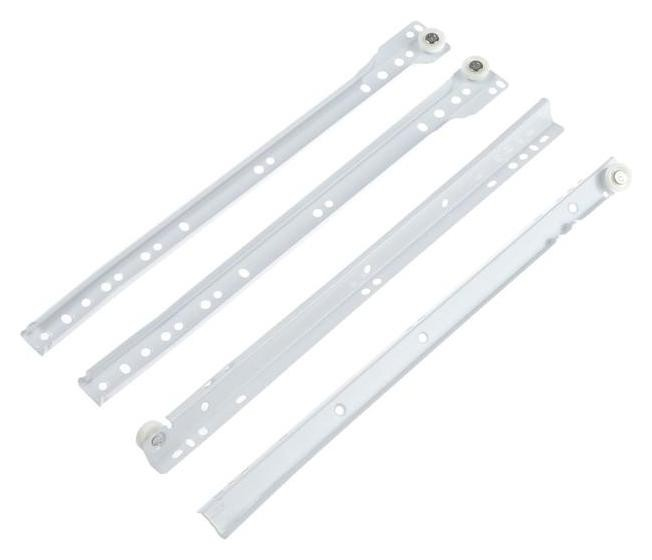 Направляющие роликовые 350x1, 1 мм, белый, 1 шт. NNB
