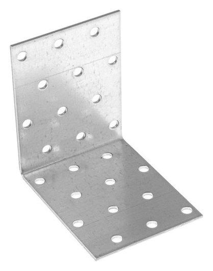 Крепежный уголок равносторонний KUR 80х80х60 цинк, 1 шт.  Стройметиз