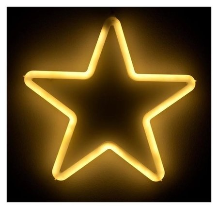 "Фигура светодиодная ""Звезда"" 28х28х2 см, фиксинг, 220 В, т/белый  LuazON"