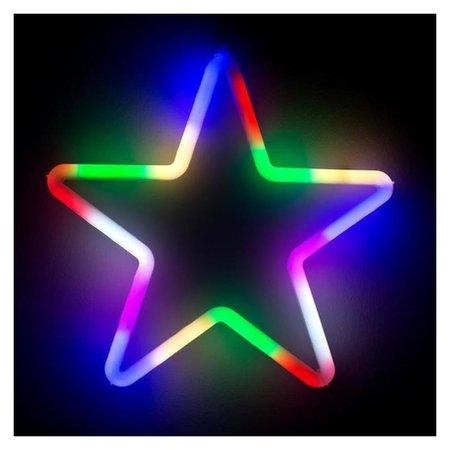 Фигура светодиодная Звезда 28х28х2 см, фиксинг, 220 В, мульти LuazON