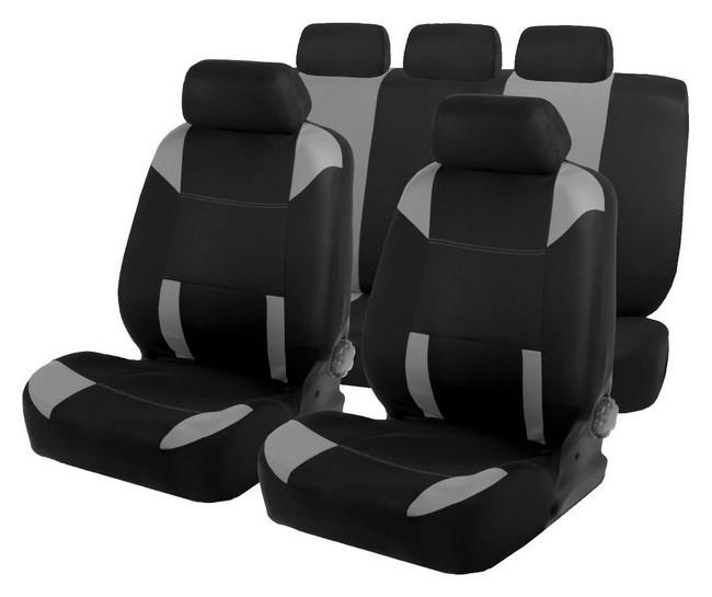 Авточехлы на сиденья Torso Premium универсальные, 9 предметов, чёрно-серый Av-37 Torso