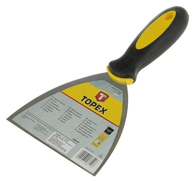 Шпатель малярный Topex, 125 мм, нержавеющая сталь, двухкомпонентная ручка  Topex