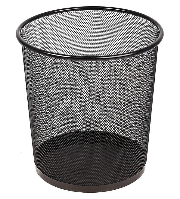Корзина для бумаг, сетка металлическая чёрная, 10 литров  Calligrata