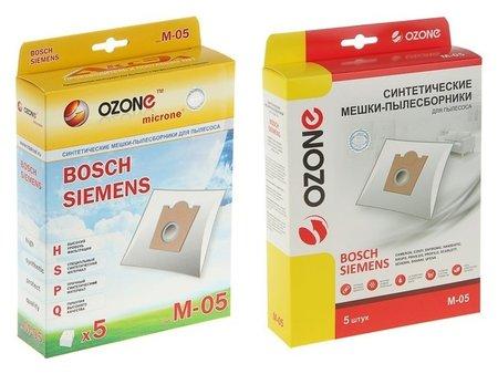 Пылесборник одноразовый синтетический Ozone Micron M-05, 5 шт ( Bosсh Typ D,e,f,g )  Ozone