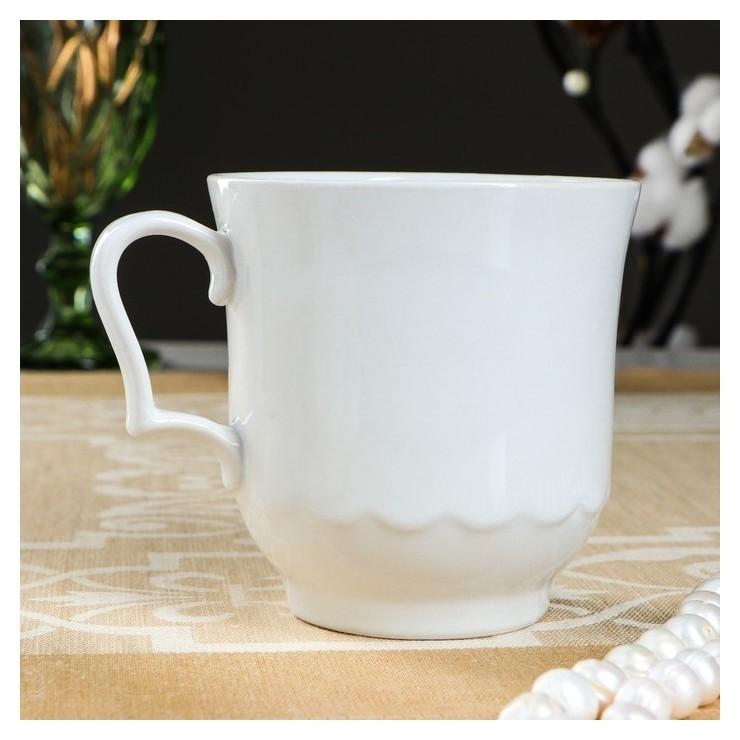 Кружка Рубин, белая, 0,35 л Довбышский фарфор