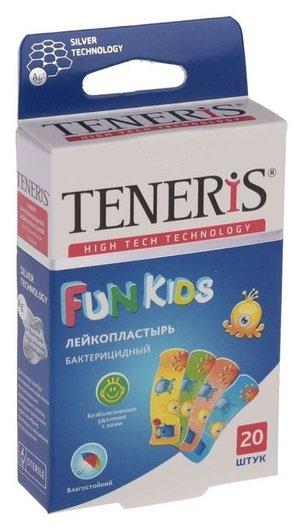 Лейкопластырь бактерицидный Teneris Fun Kids с ионами серебра на полимерной основе. 20 шт Master Uni