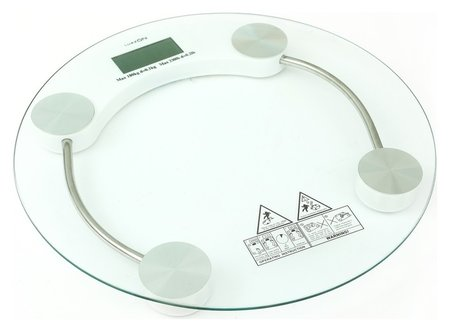 Весы напольные Luazon Lve-001, электронные, до 180 кг, белые  LuazON