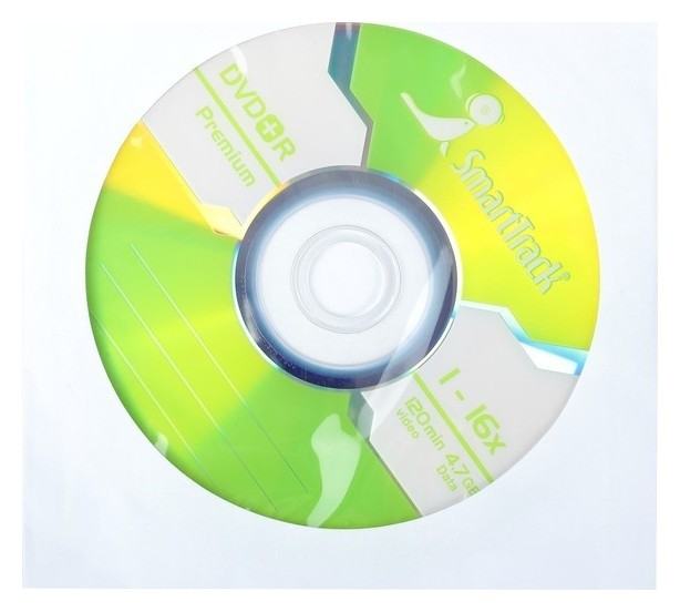 Диск Dvd+r Smarttrack, 16x, 4.7 Гб, конверт, 1 шт  Smarttrack