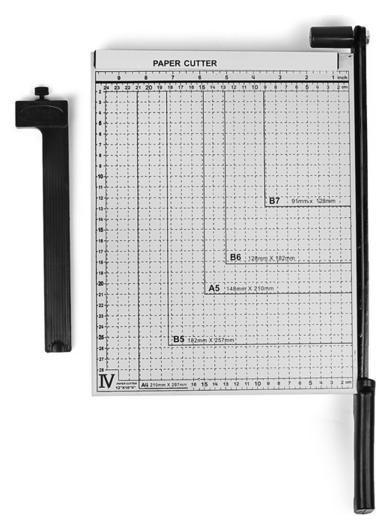 Сабельный резак для бумаги, A4 до 10 листов, металлическая основа, длина реза 320 мм  NNB