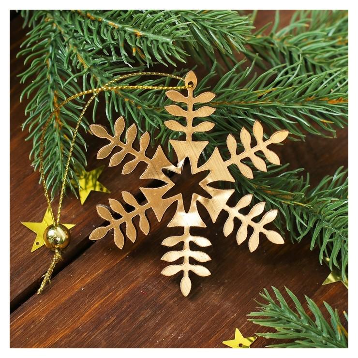 Новогодняя подвеска «Золотая снежинка» NNB