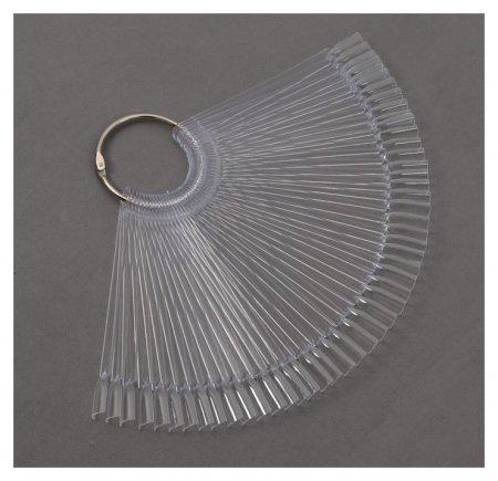 Палитра для лаков на кольце, 50 ногтей, цвет прозрачный  NNB