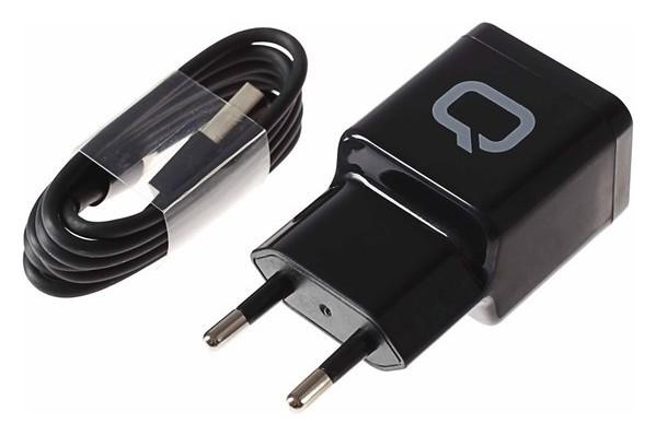 Сетевое зарядное устройство Qumo Energy, 2 Usb, 2.1 A, черное  Qumo