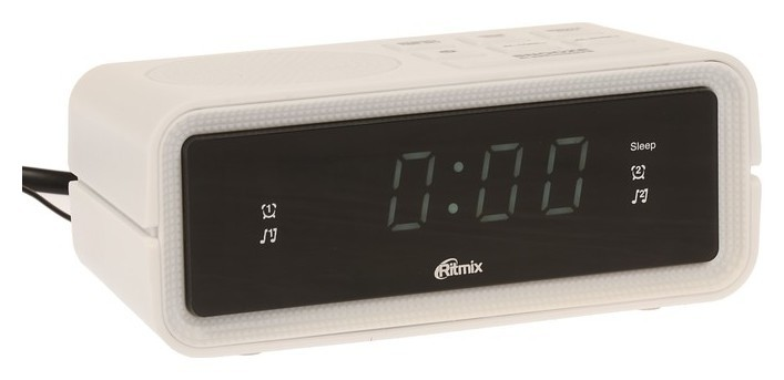Часы радиобудильник Ritmix Rrc-606, FM, два будильника, белые Ritmix