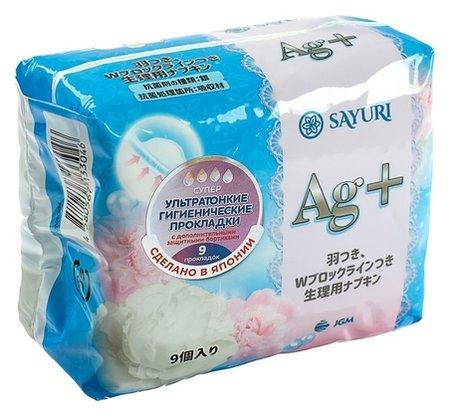 Гигиенические прокладки Argentum+, супер, 24 см, 9 шт Sayuri