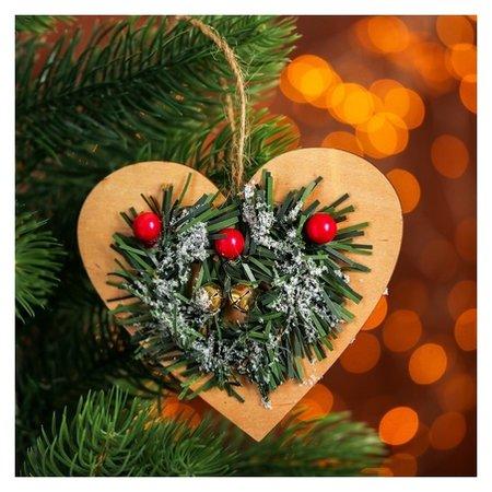 Новогодняя подвеска «Хвойное сердце»  NNB